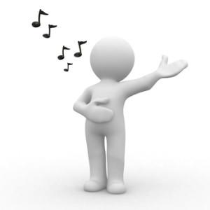 Sänger in Pose